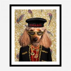 Doggy Fashion Victim Art Print
