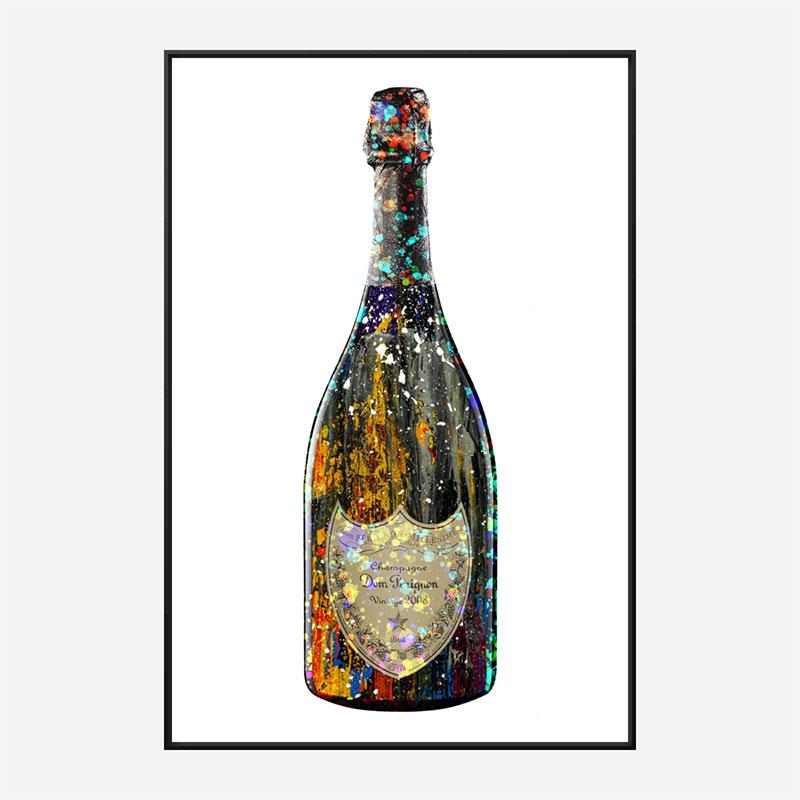 Dom Perignon Champagne Splash Wall Art