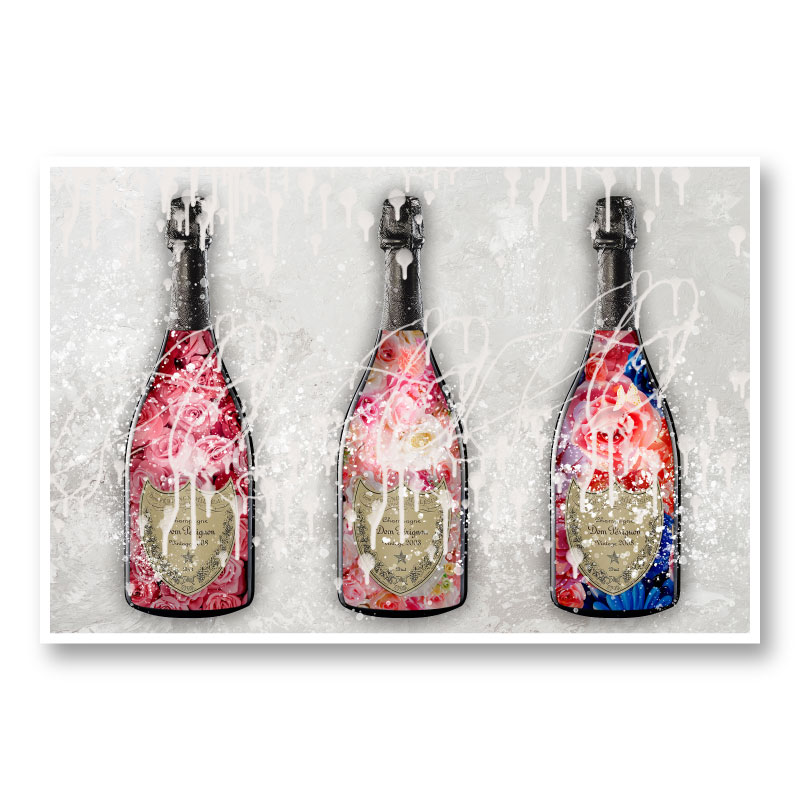 DP Flowers Champagne Wall Art