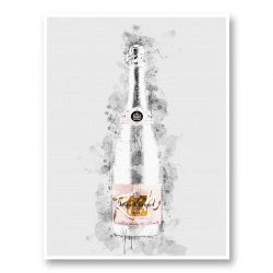 Veuve Clicquot Rich Rose Champagne Art Print