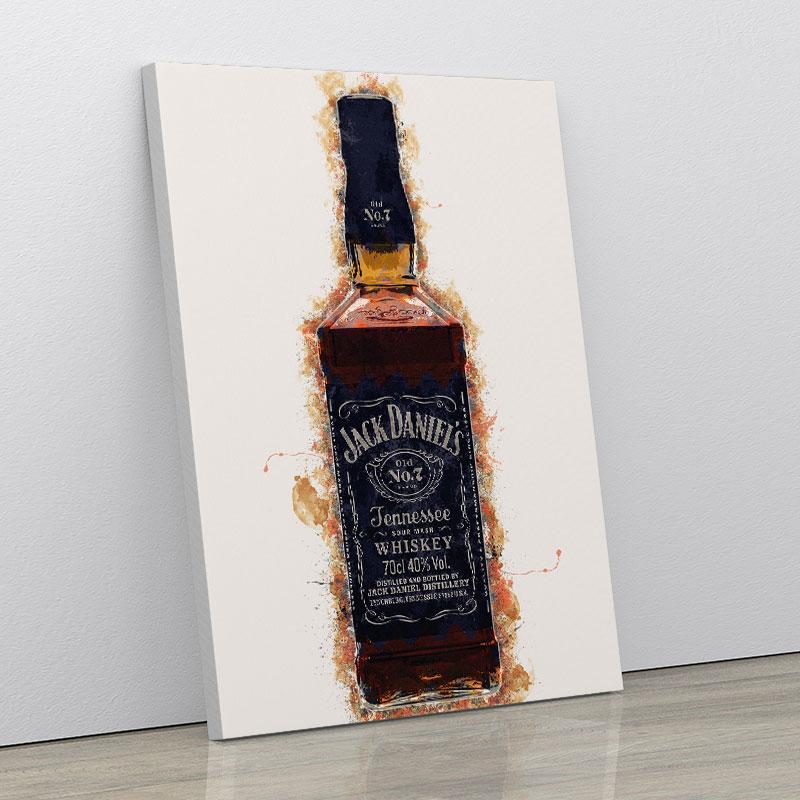 Jack Daniels Grunge Art Print