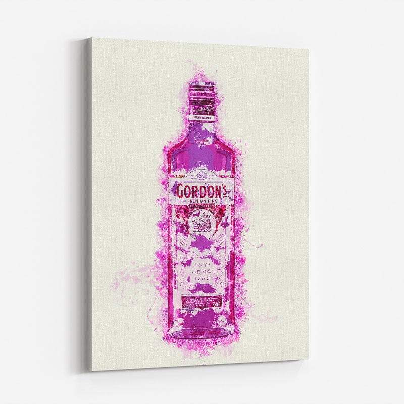 Hot Pink Gin Art Print