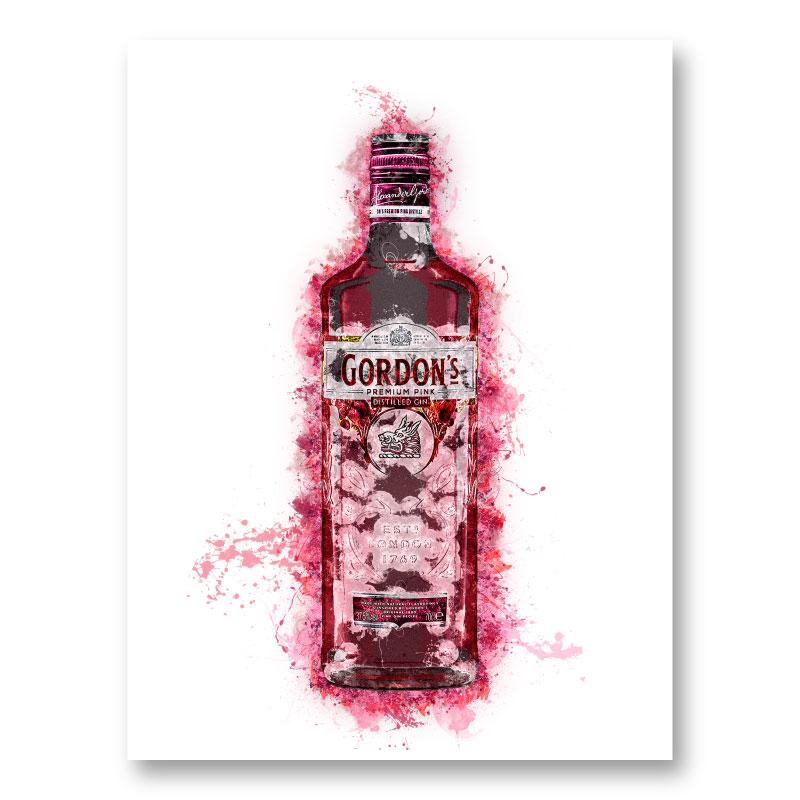 Pink Gin Art Print