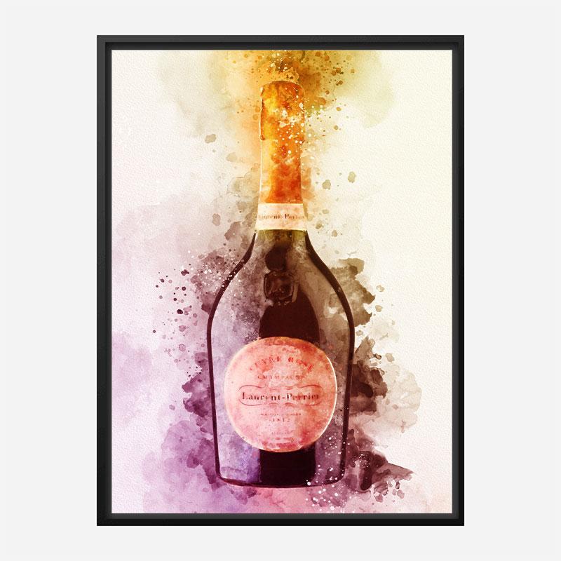 Laurent Perrier Cuvee Rose Champagne Art Print