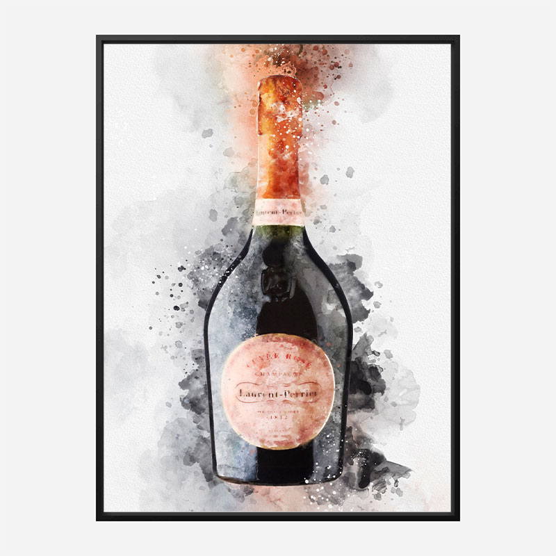 Laurent Perrier Cuvee Rose Champagne Art Print