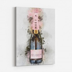 Moet & Chandon Brut Imperial Rose Champagne Art Print