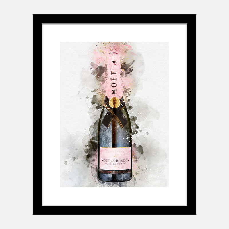 Moet & Chandon Brut Imperial Rose Champagne Art Print
