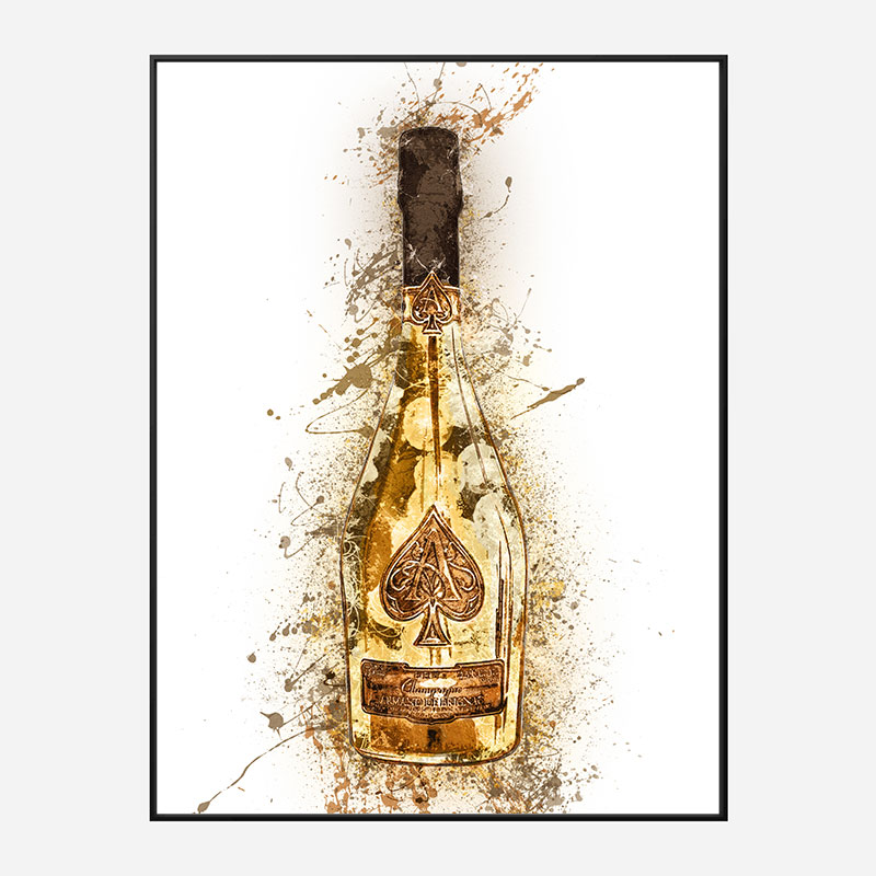 Ace Of Spades Brut Gold Champagne Art Print