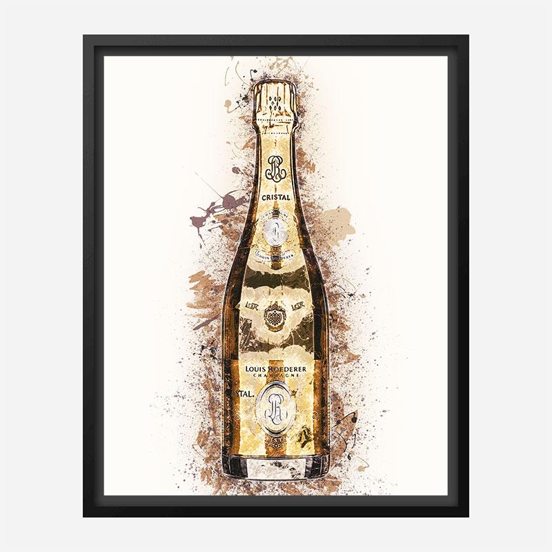 Cristal Champagne Art Print