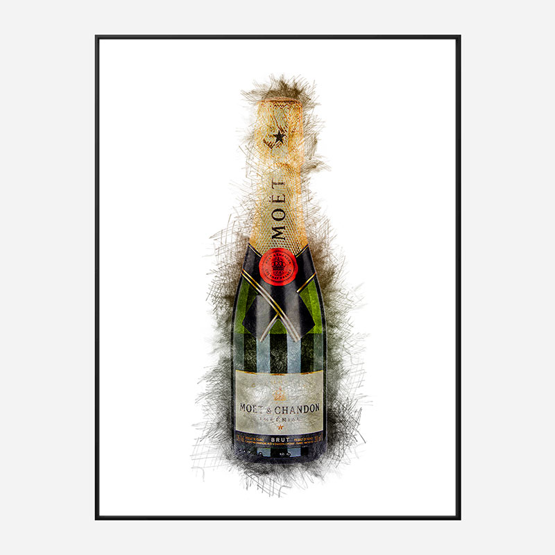 Baby Moet Abstract Champagne Art Print