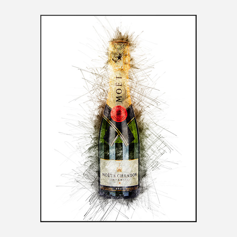 Baby Moet Abstract 2 Champagne Art Print