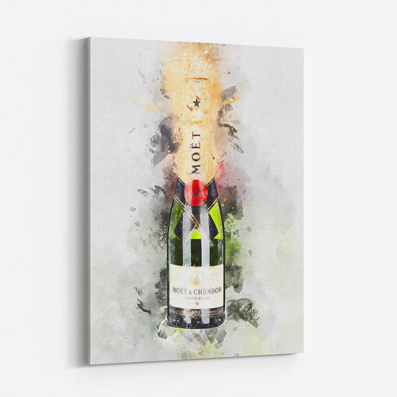 Baby Moet Abstract 3 Champagne Art Print
