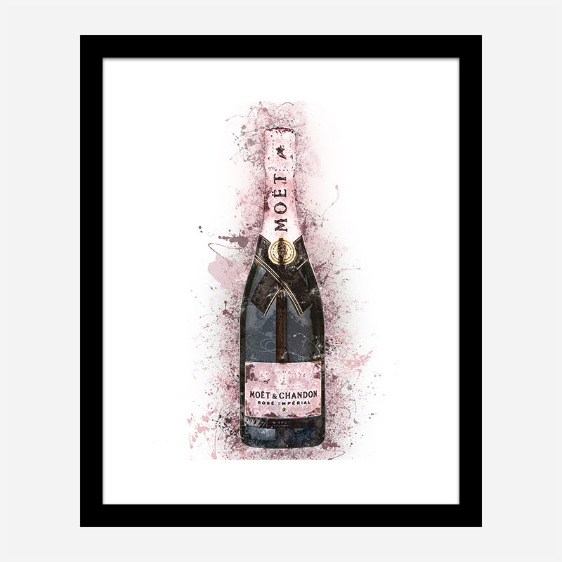 Moet Rose Abstract Champagne Art Print