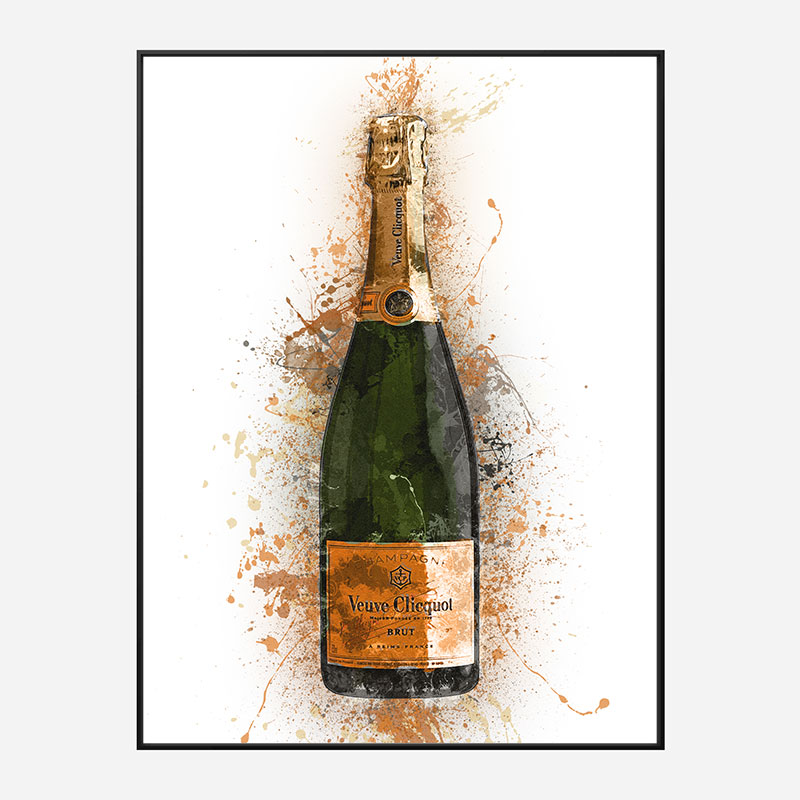 Veuve Abstract Champagne Art Print