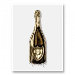 DP Dripping Gold Champagne Art Print