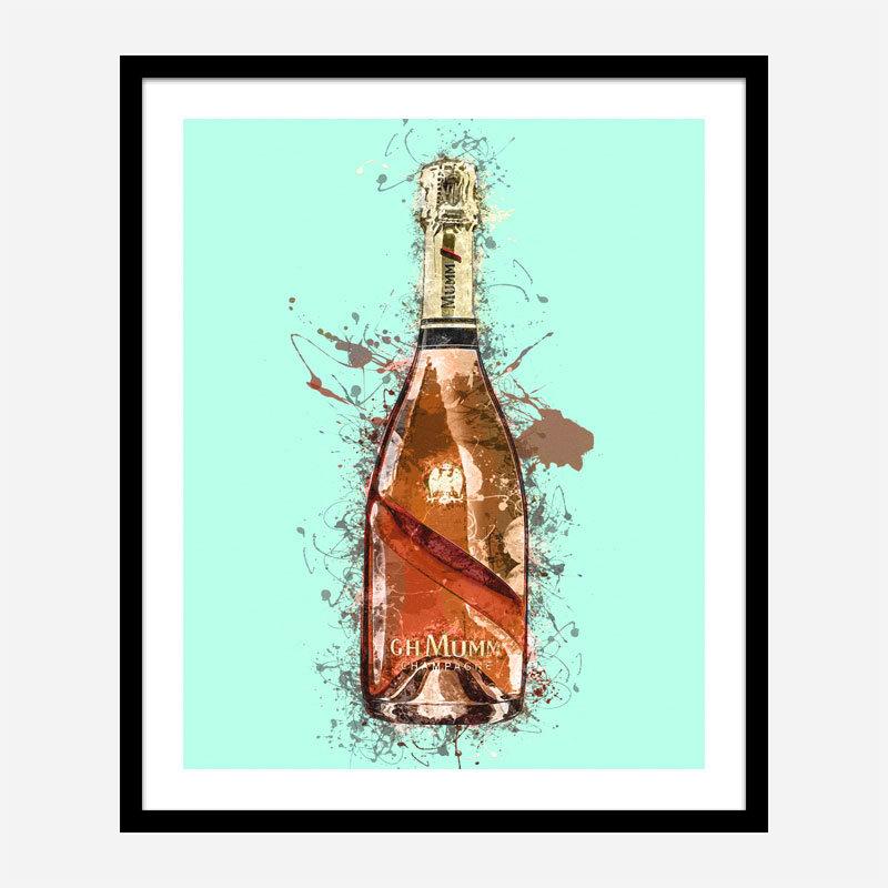 Mumm Champagne Splash Art Print
