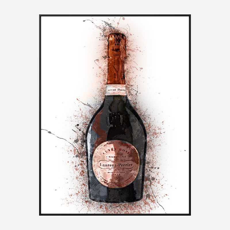 Laurent Perrier Champagne Splash Art Print
