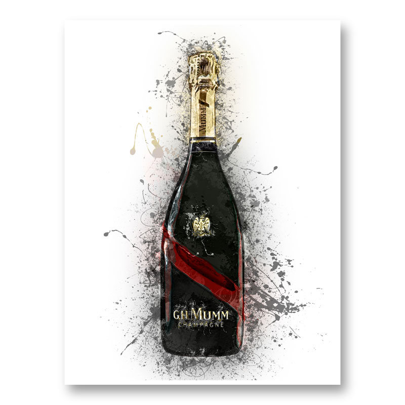 Mumm Grand Champagne Splash Art Print