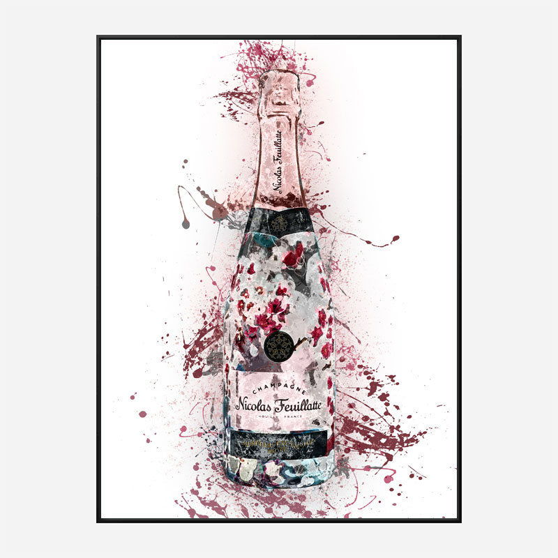 Nicolas Feuillatte Champagne Abstract Art Print
