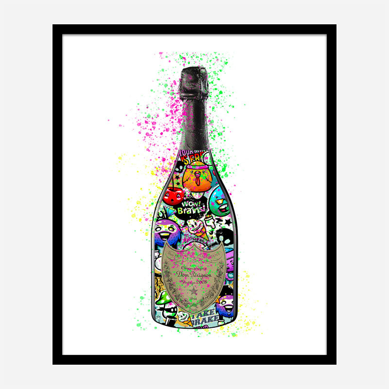 DP Cartoons Champagne Art Print