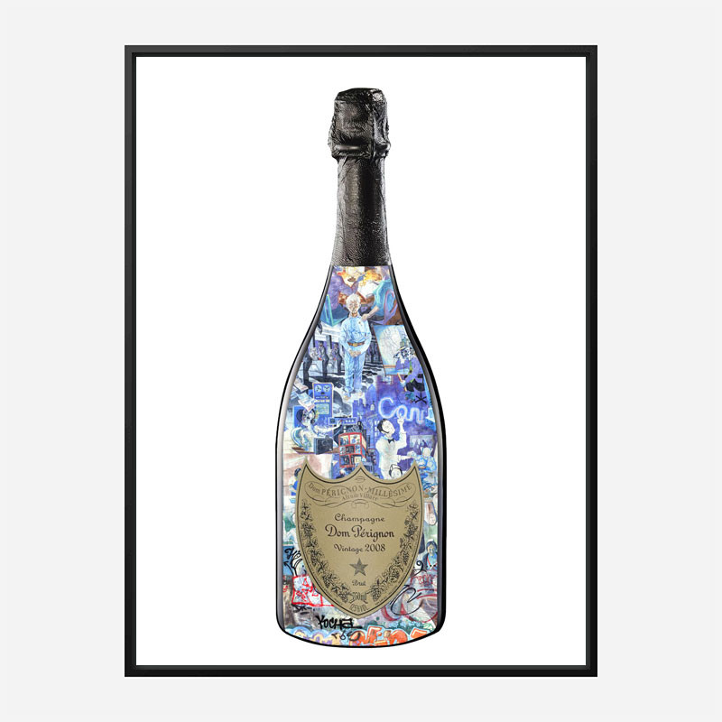 DP Graffiti Champagne Art Print