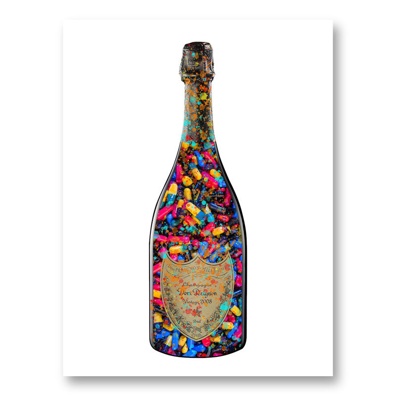 DP Addict Splatter Champagne Art Print