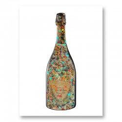 DP Pollock Splatter Champagne Art Print