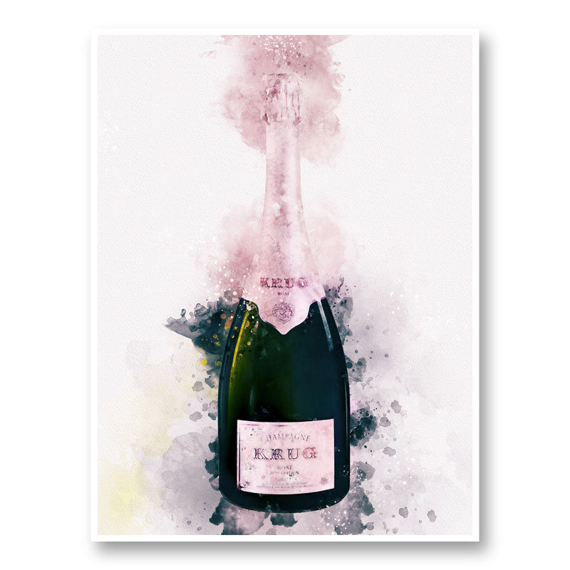 Krug Rose Abstract Champagne Art Print