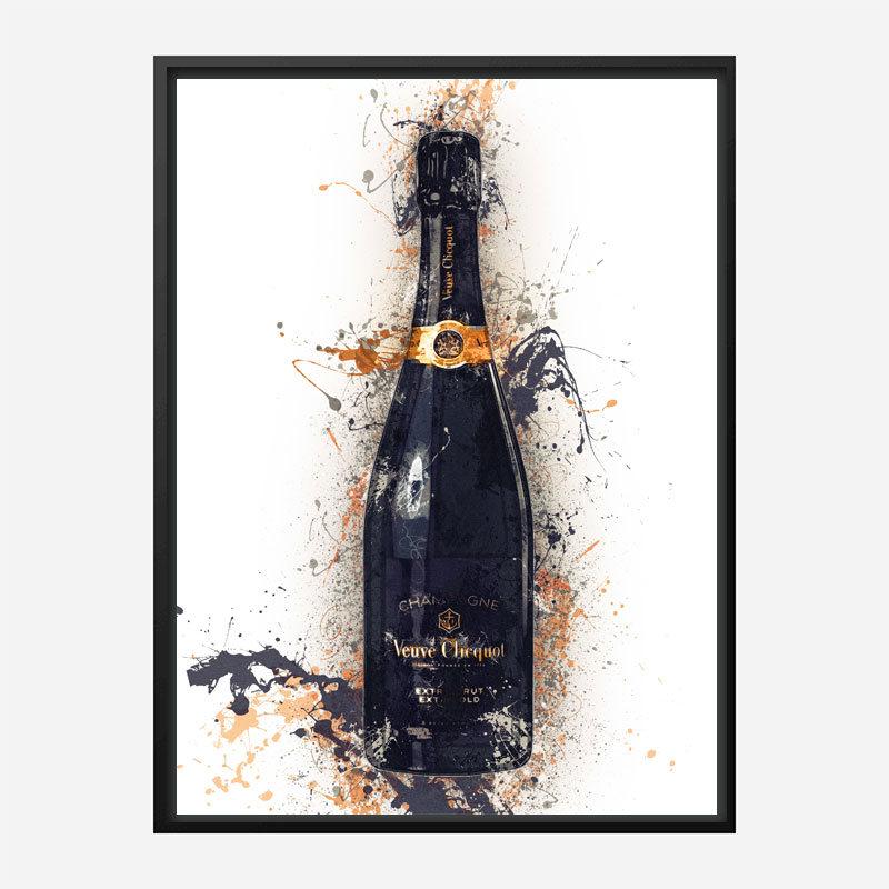 Veuve Clicquot Extra Brut Champagne Art Print