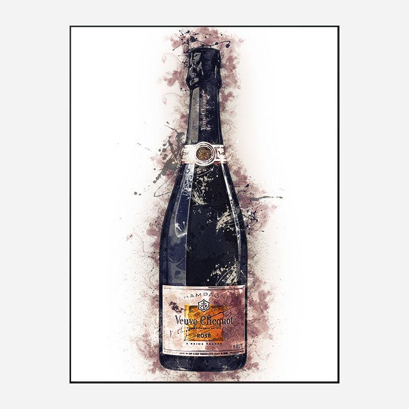 Veuve Clicquot Rose Champagne Art Print
