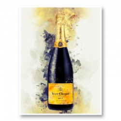 Veuve Clicquot Yellow Label Champagne Art Print