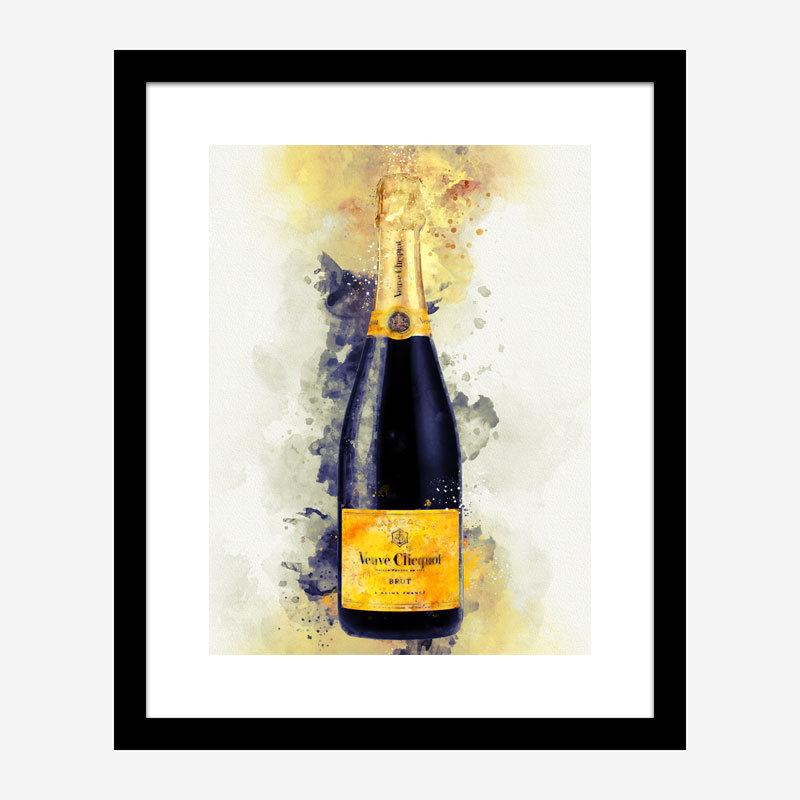 Veuve Clicquot Yellow Label Champagne Art Print