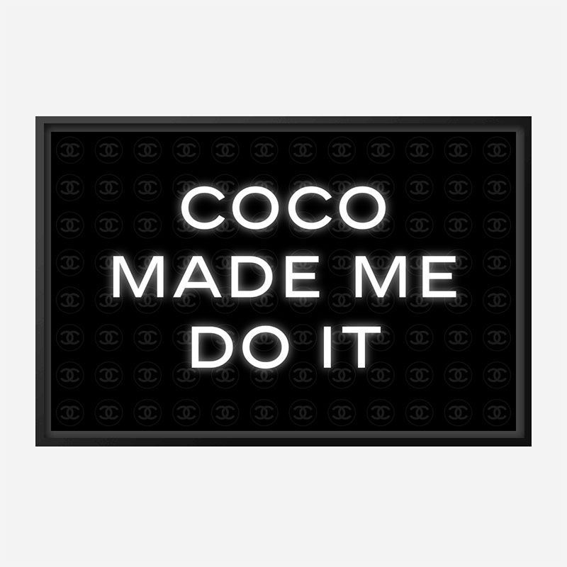 Coco Made Me Do It Chanel Background Wall Art