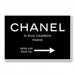 Chanel Rue Cambon Paris Sign Wall Art