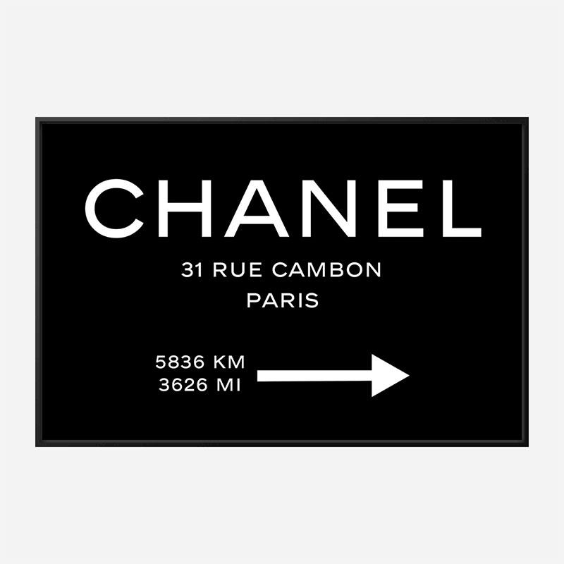 Chanel Rue Cambon Paris Sign Wall Art
