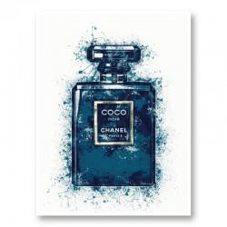 Coco Noir Blue Art Print