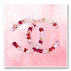 Chanel Flowers Pink Watercolor Wall Art Print