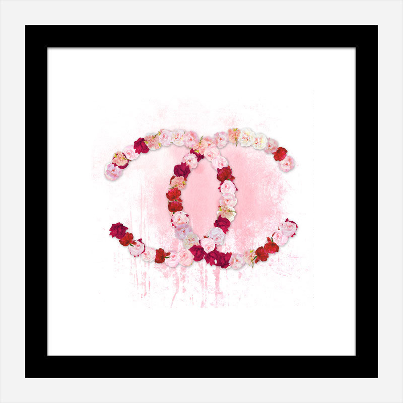 Chanel Flowers Pink Abstract Wall Art Print