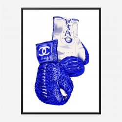 Chanel Blue Boxing Gloves Art Print