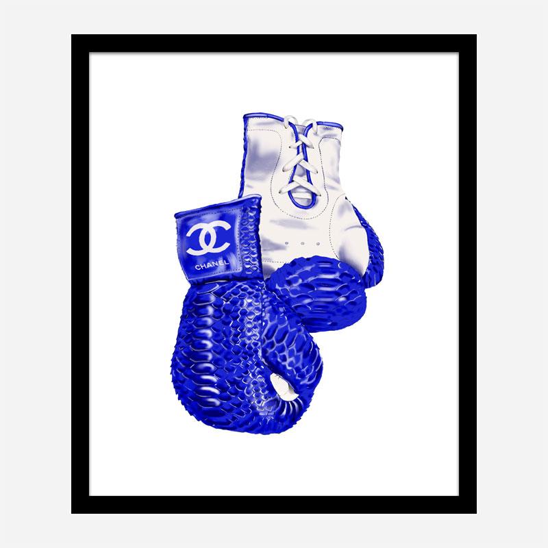 Chanel Blue Boxing Gloves Art Print