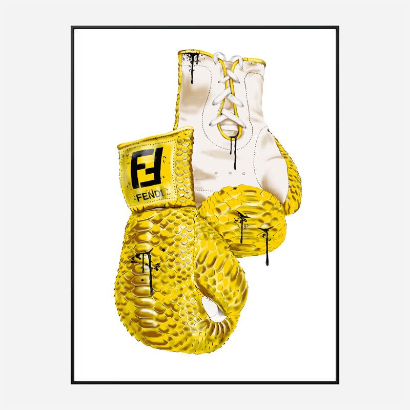 Fendi Boxing Gloves Art Print