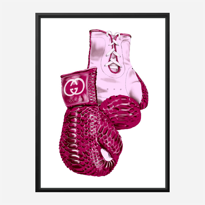 Gucci Boxing Gloves Art Print