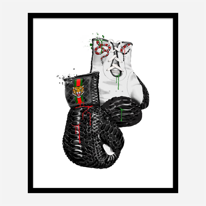 Gucci Tiger Boxing Gloves Art Print