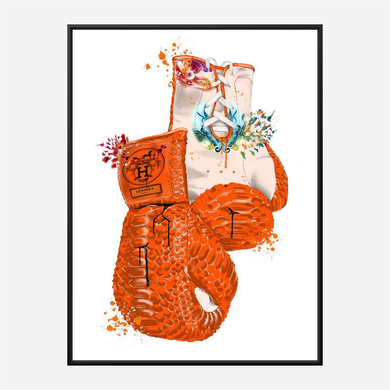 Hermes Boxing Gloves Art Print