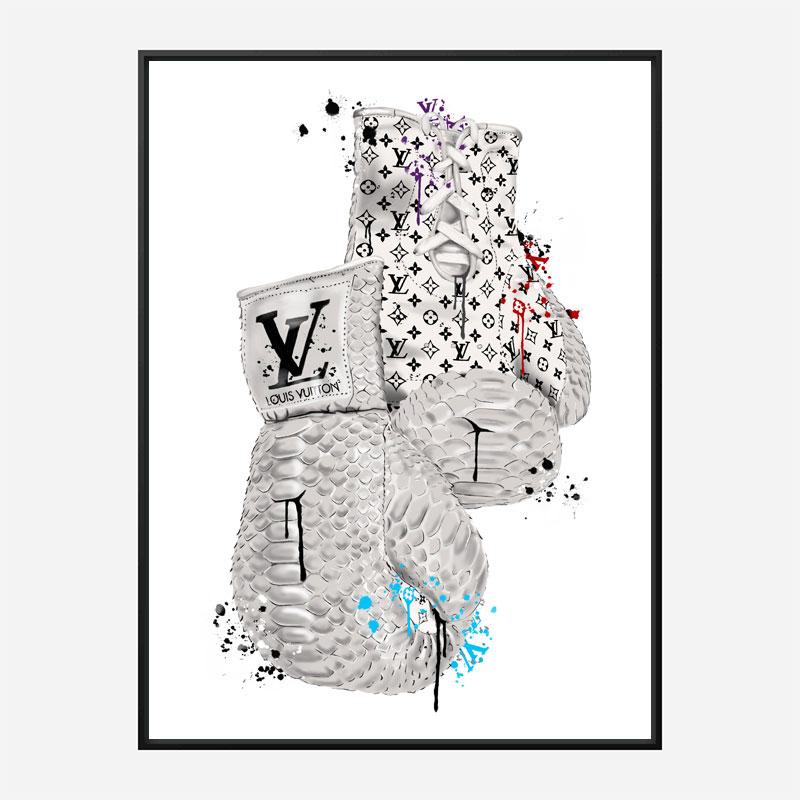LV Boxing Gloves Art Print