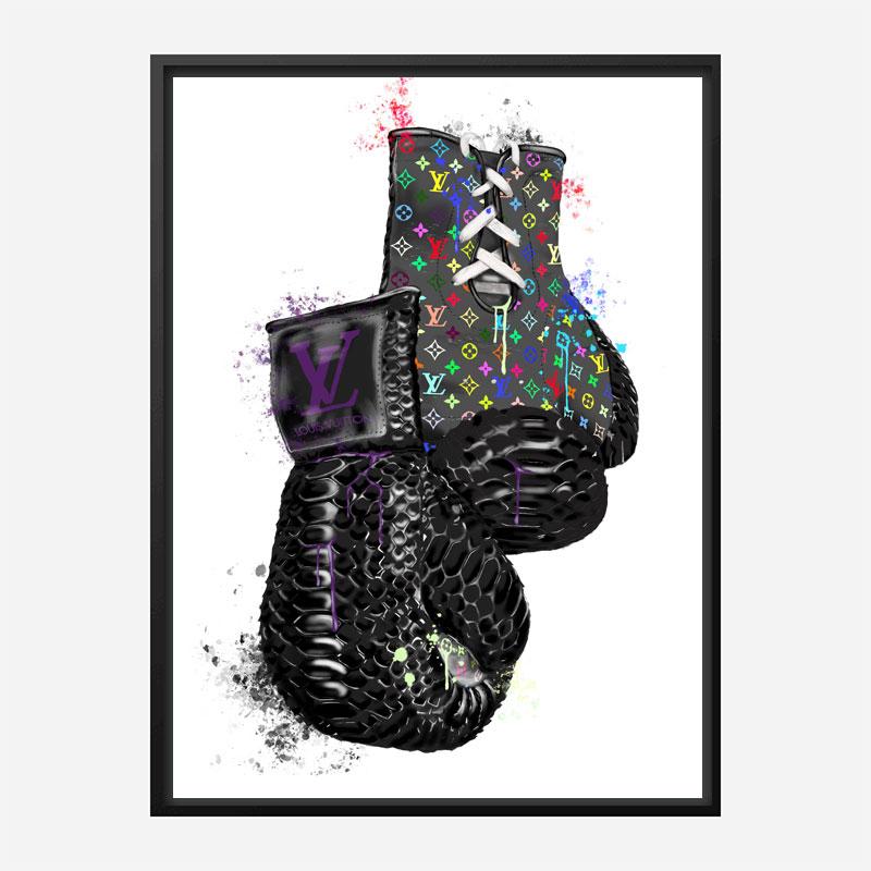 LV Multicolor Boxing Gloves Art Print