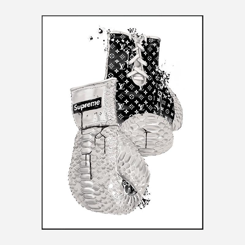 Supreme Boxing Gloves Art Print