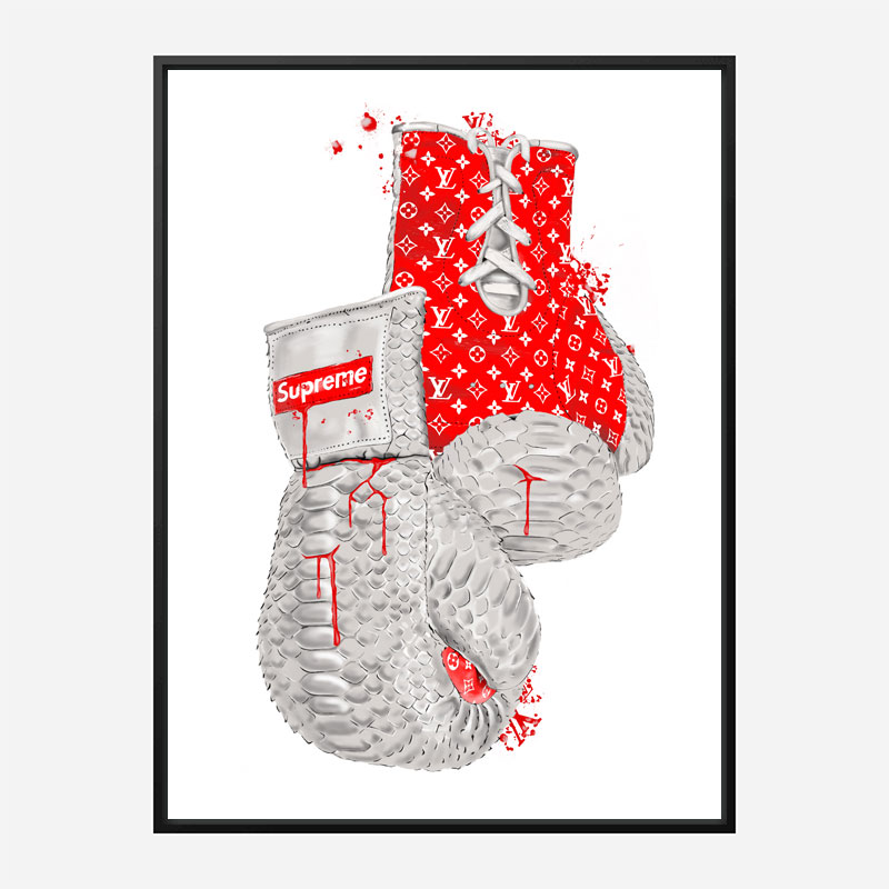 Supreme Red Boxing Gloves Art Print
