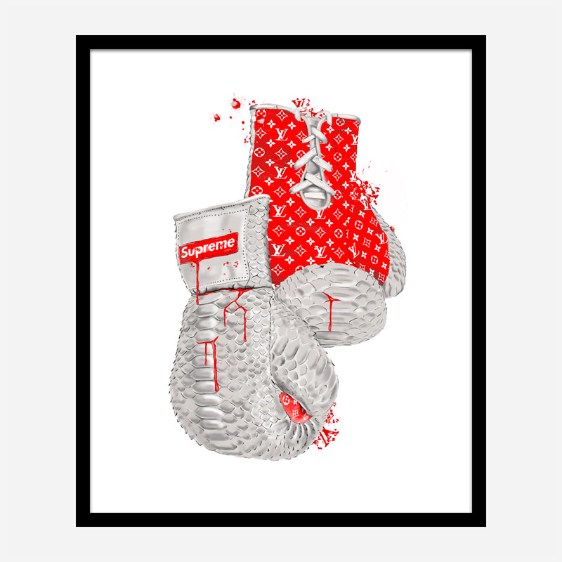 Supreme Red Boxing Gloves Art Print