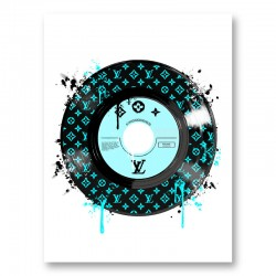 Baby Blue LV Record Art Print
